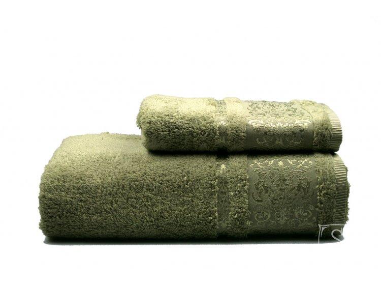 Полотенце махровое Home Line. Bamboo зелений