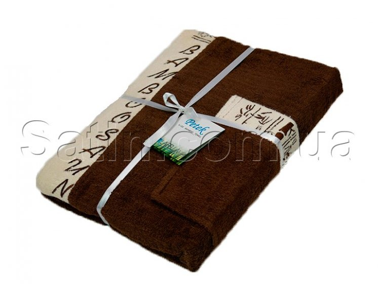 Набор для сауны бамбуковый мужской Petek La Bella Bamboo, коричневый, 3 предмета