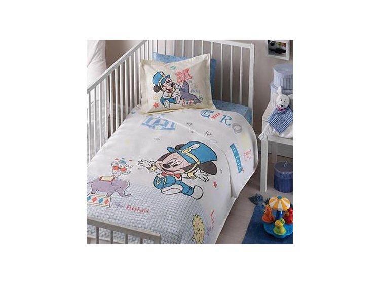Постельное белье в детскую кроватку ТАС. Mickey Cirque, белого цвета
