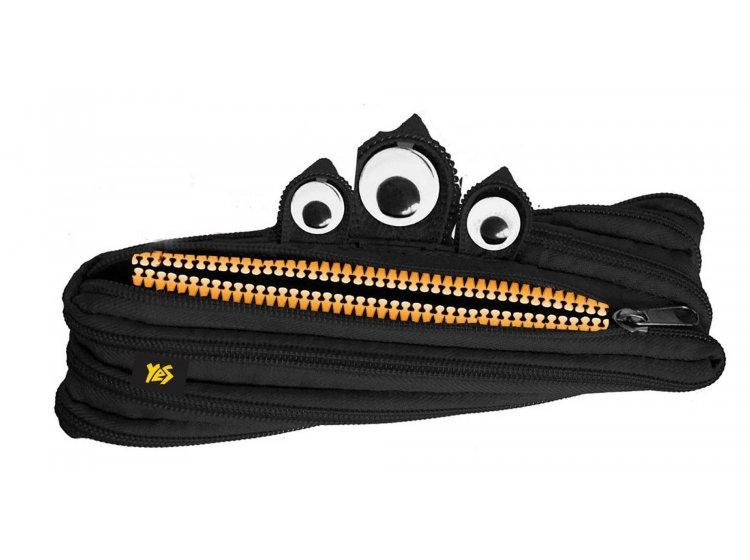 Пенал-молния мягкий 1 Вересня YES. Black, 22*7 см