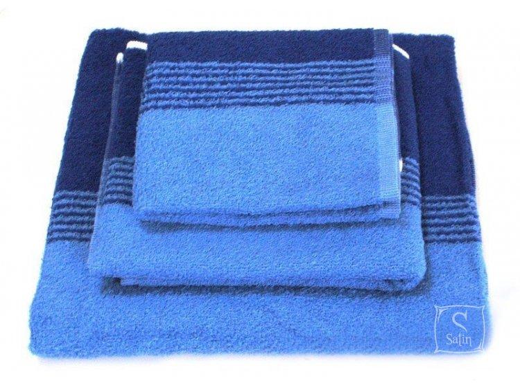 Полотенце махровое SoundSleep. Сине-голубое