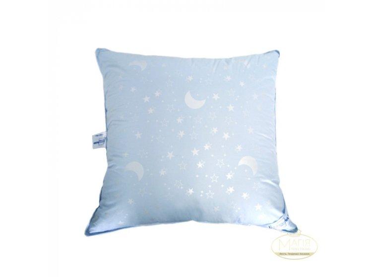 Подушка 10% пуха SoundSleep. Sleep and Go голубая 70х70 см