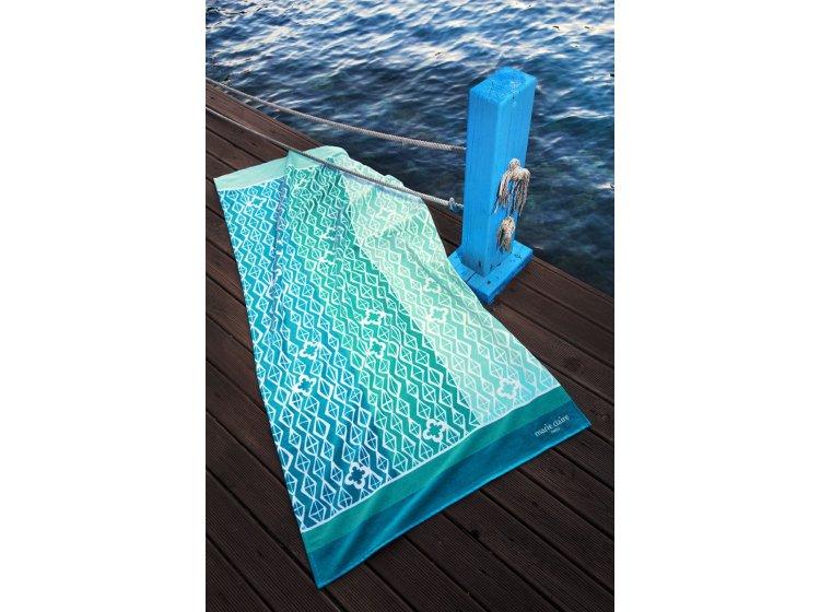 Пляжное полотенце Marie claire. Bresila yesil, размер 75х150 см