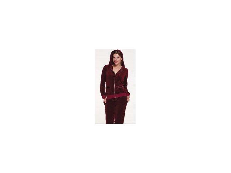 Велюровый костюм Cocoon.  ccn060-3005 бордовый