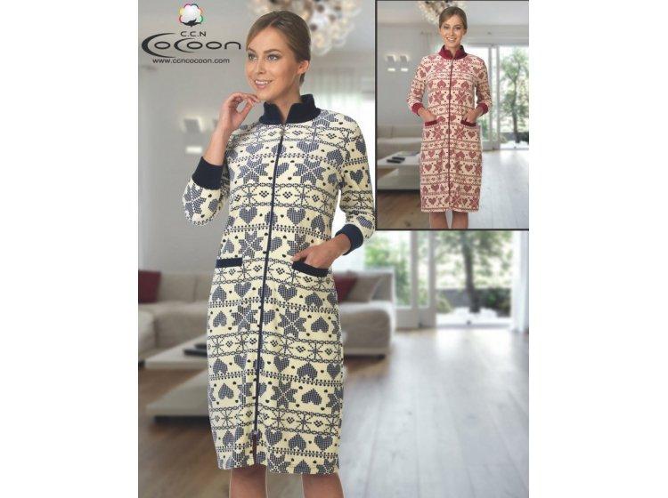 Велюровый халат Cocoon. ccn 12-1170 синий