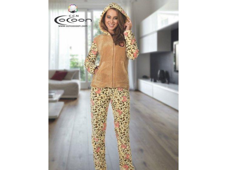 Велюровый костюм Cocoon. ccn 061-5027 бежевый
