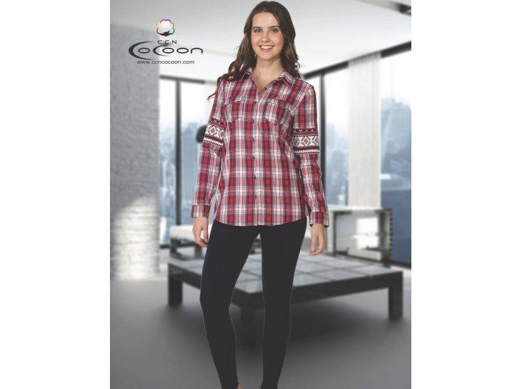 Домашний женский костюм Cocoon. ccn 96-1045 красный