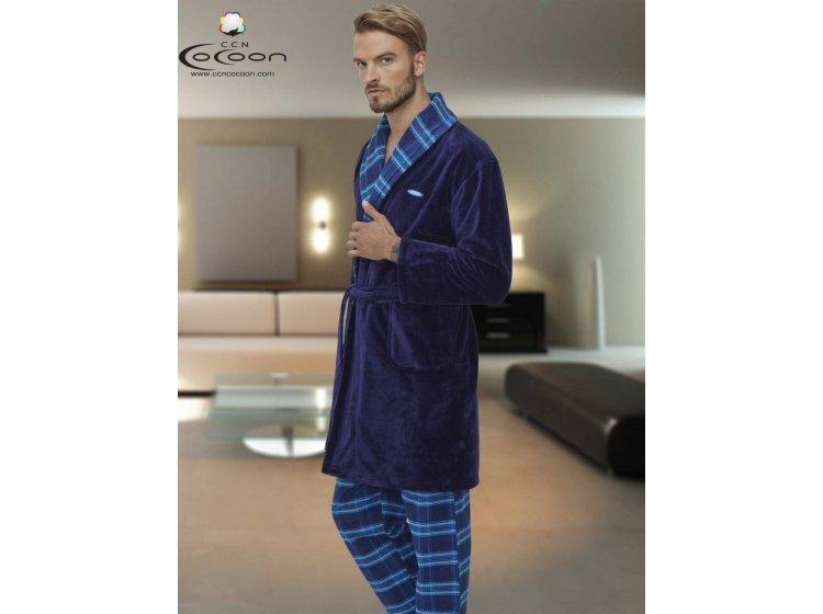 Домашний мужской костюм Cocoon. ccn 97-5009 синий