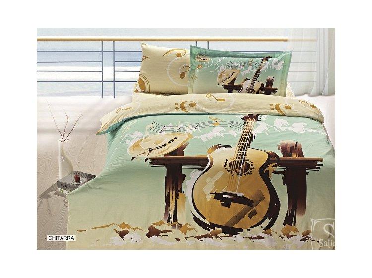 Arya, Chitarra, 1,5-спальный комплект белья, сатин