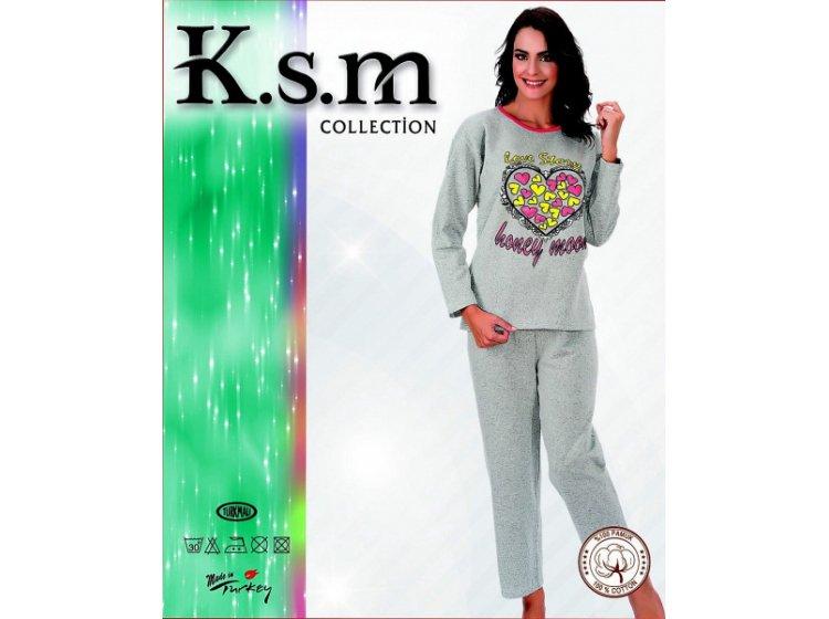 Пижама женская на флисе K.S.M. 4855
