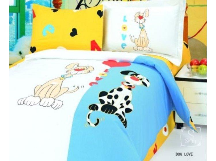Постельное белье в детскую кроватку LeVele. Dog love