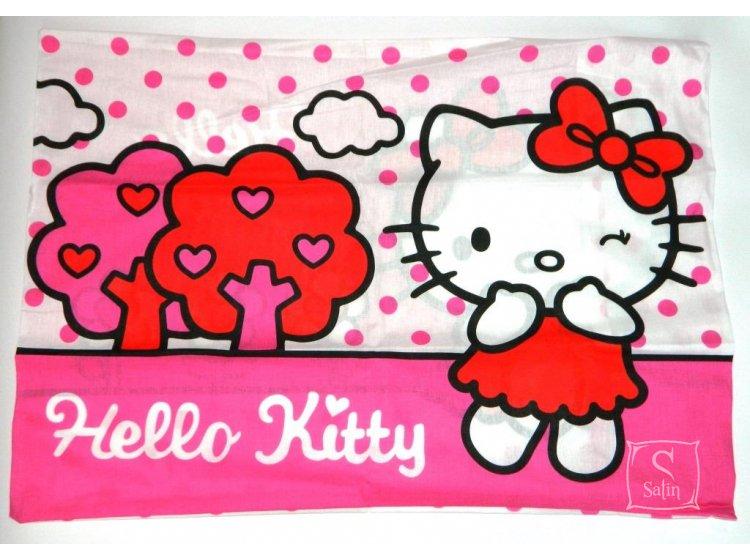 Детское постельное белье TAC. Hello Kitty pink наволочка 1 сторона