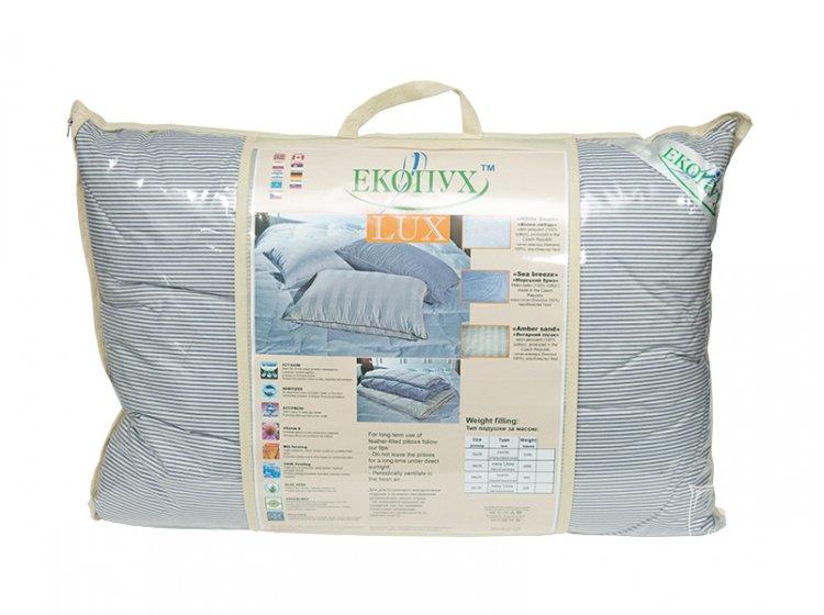 Подушка Экопух LUX. Sea Breeze,100% пух, размер 50х70 см упаковка