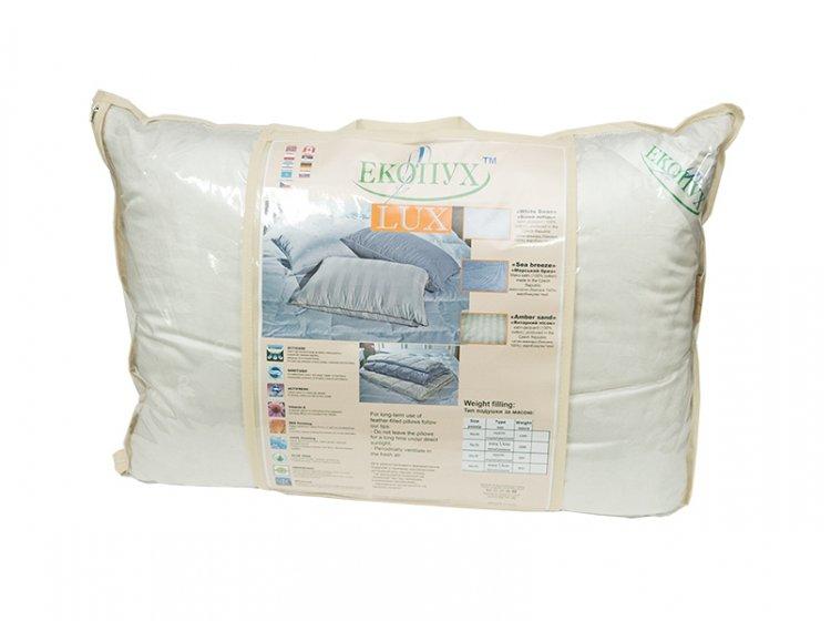 Подушка Экопух LUX. White Swan,100% пух, размер 50х70 см упаковка