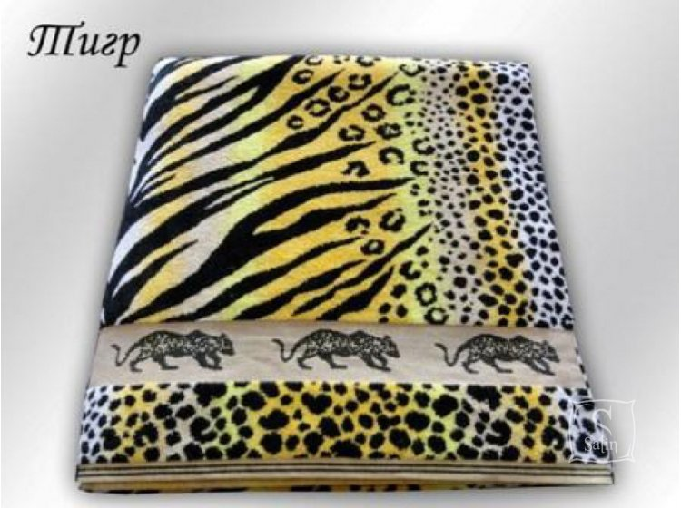 Махровая простынь Речицкий текстиль. Тигр