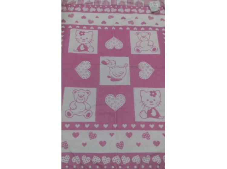 Детская махровая простынь Речицкий текстиль. Малышам розовый, 104х160см