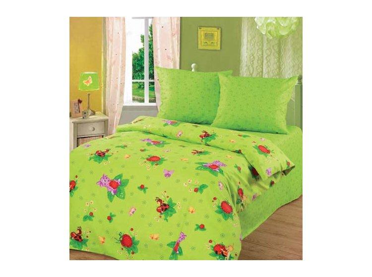 Постельное белье в детскую кроватку Непоседа. Лунтик и Клубничка