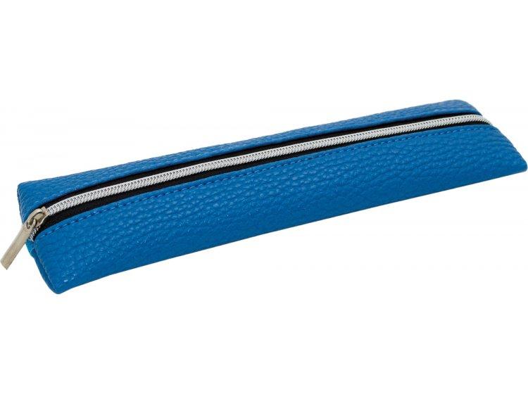 Пенал мягкий PU YES. Микс синий, 19*5 см