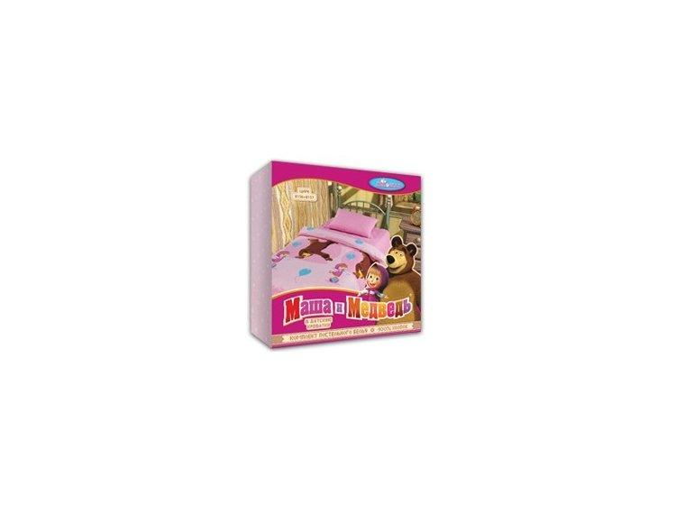 Постельное белье в детскую кроватку Непоседа. Маша на лугу упаковка
