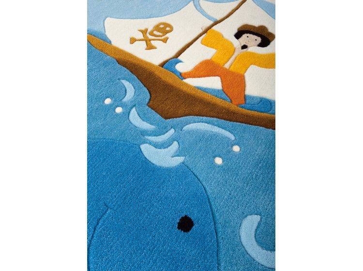 Детский коврик Arte-Espina. Joy Веселый пират синего цвета