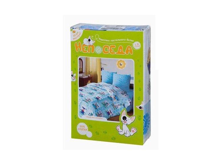 Постельное белье в детскую кроватку Непоседа. Сладкие сны, голубого цвета упаковка