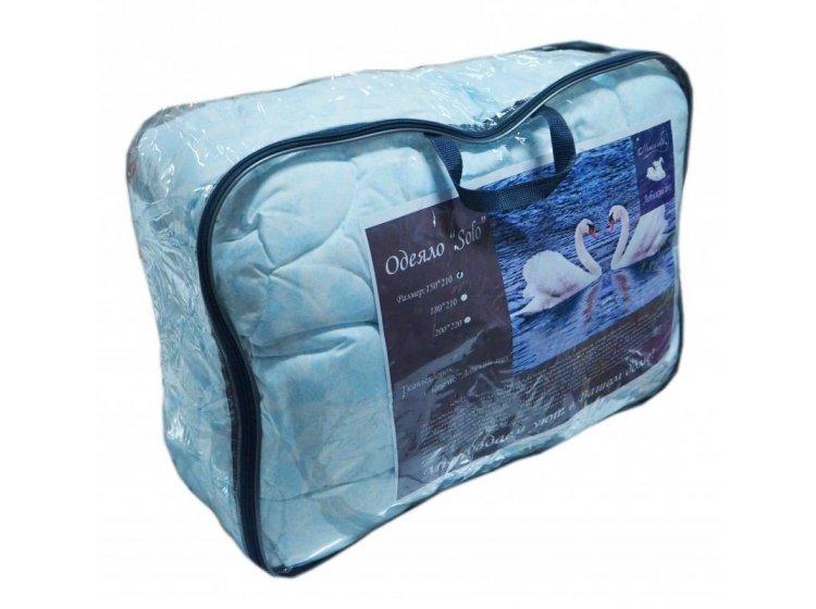Одеяло Магия Снов. Соло, нанофайбер, 150х210 см голубое в упаковке