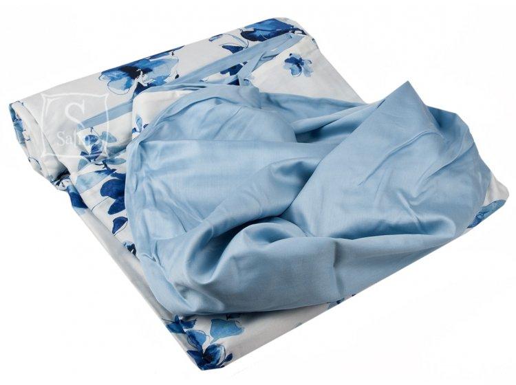 Постельное белье TAC. Digital Farida синий пододеяльник