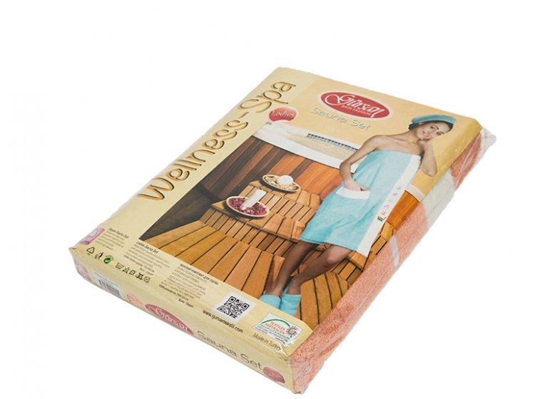 Набор для сауны женский Gursan, фиолетовый, 3 предмета упаковка