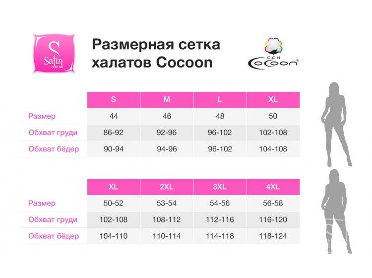 Размерная сетка халатов Cocoon