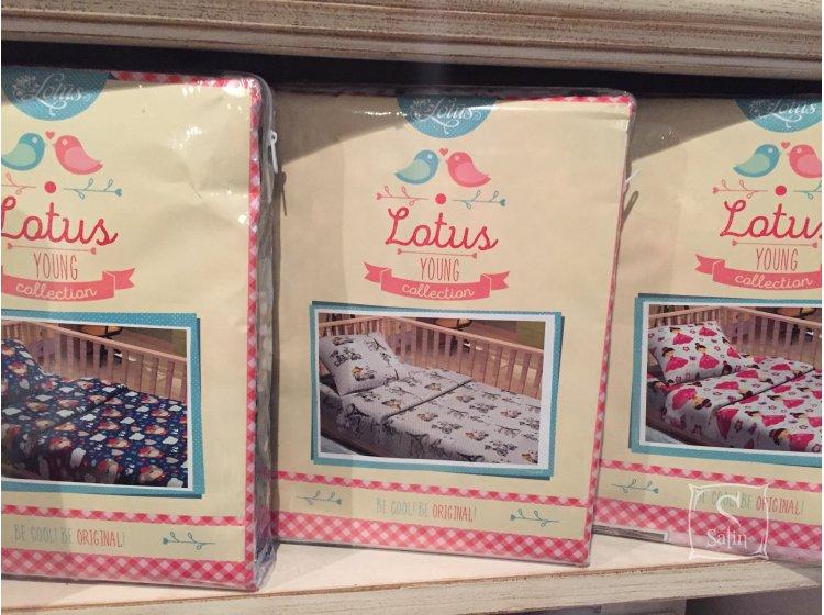 Постельное белье в детскую кроватку Lotus. BoBo, фланель упаковка