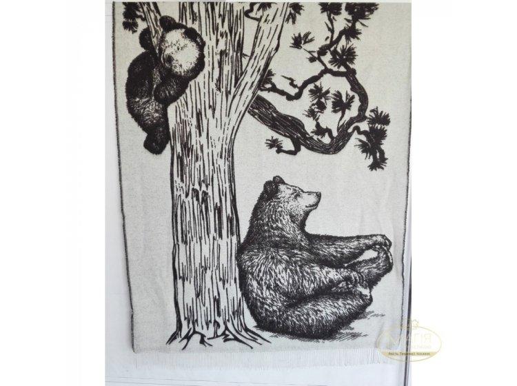 Плед шерстяной SoundSleep.  Bears