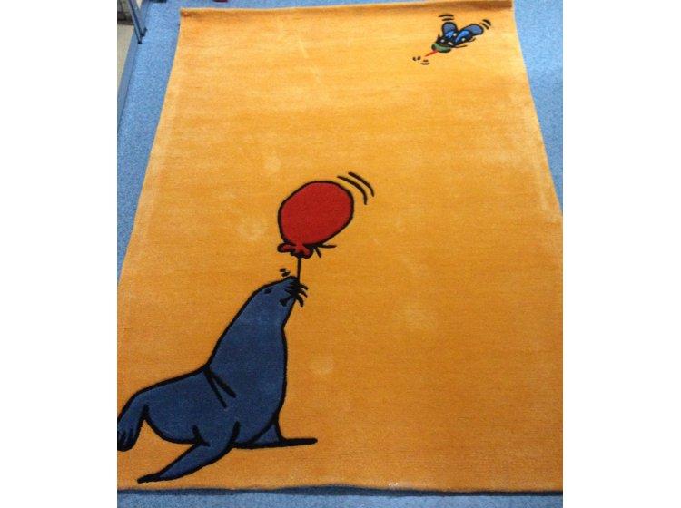 Детский коврик Arte-Espina. Joy Тюлень желтый цвет
