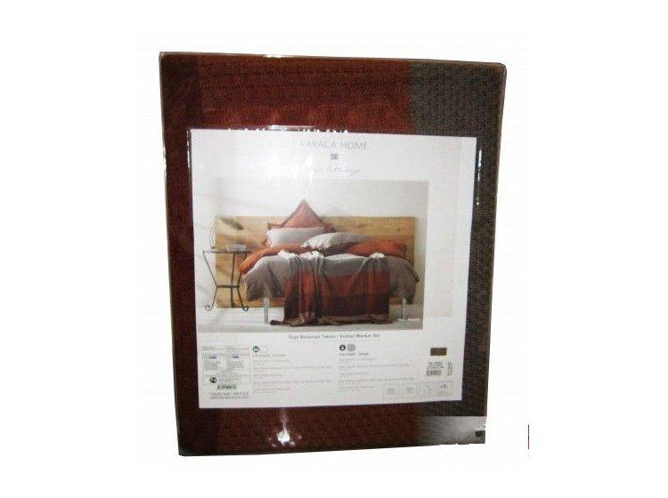 Постельное белье с пледом Karaca Home. Thin, упаковка