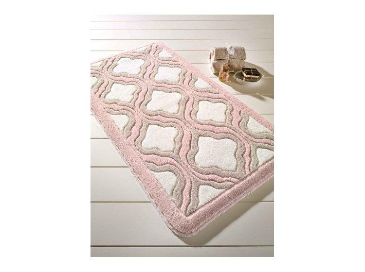 Коврик для ванной Confetti. Tiffany pudra, прорезиненный 57х100 см
