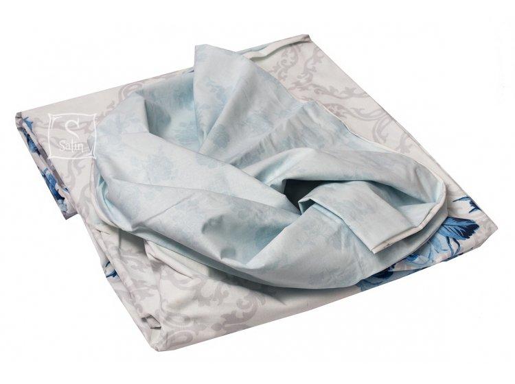 Постельное белье TAC. Ranforce Luiza V01 Mavi пододеяльник