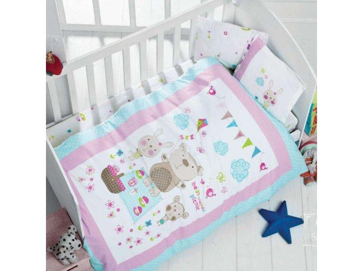 Постельное белье в детскую кроватку LUOCA PATISCA. Bebek WHISPER
