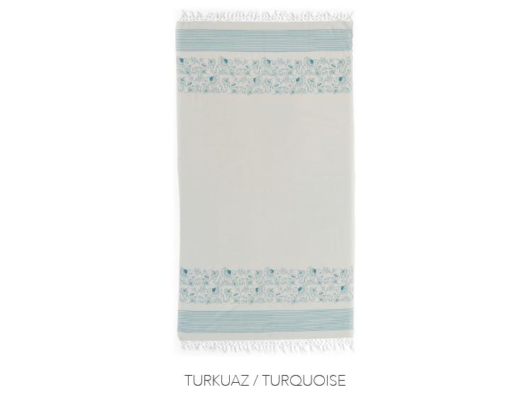 Полотенце Buldans. Mara turkuaz тенсел/хлопок , 100х180 см