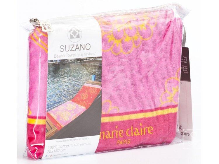 Пляжное полотенце Marie claire. Suzano pembe, размер 75х150 см упаковка