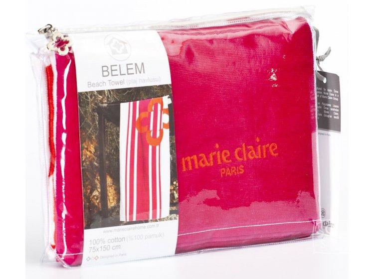 Пляжное полотенце Marie claire. Belem pembe, размер 75х150 см упаковка