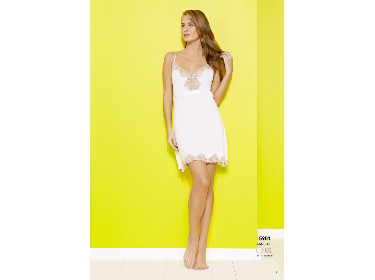 Платье для сна Mariposa. Модель 5901 кремовый