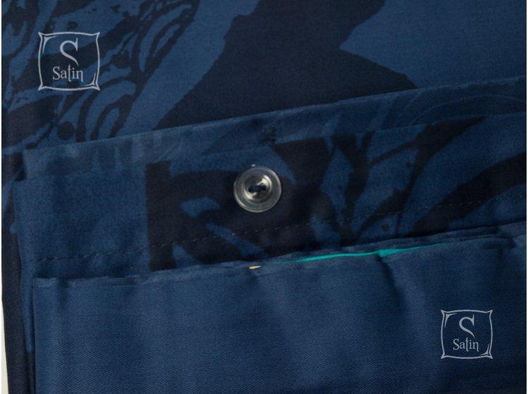 Постельное белье TAC, Mikela синий, сатин De-Luxe пододеяльник
