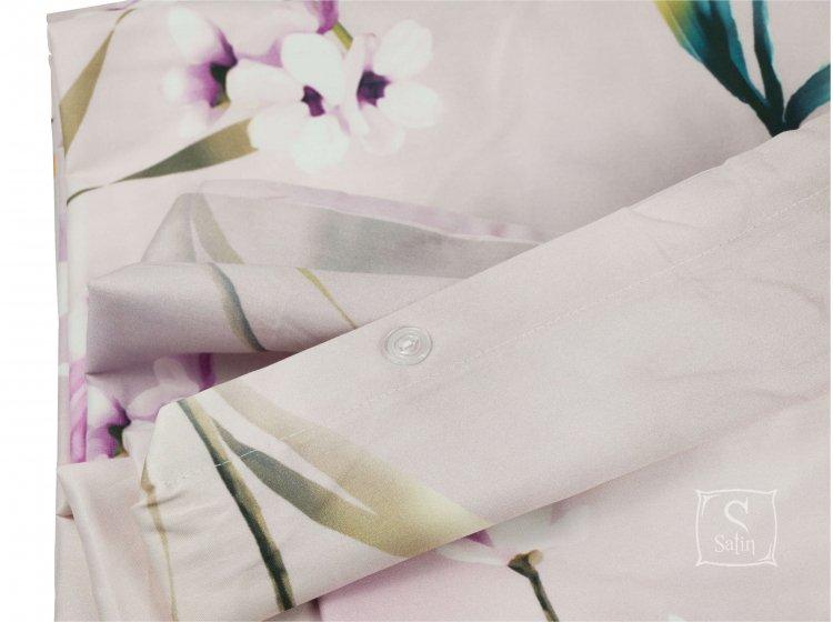 Постельное белье TAC. Digital Glienn lila пуговицы на пододеяльнике