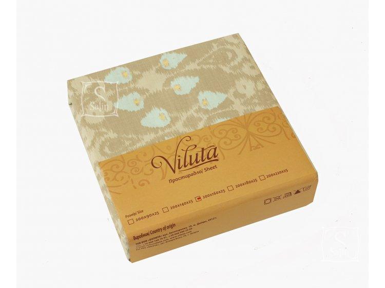 Простынь на резинке Viluta. Ранфорс павлиний глаз