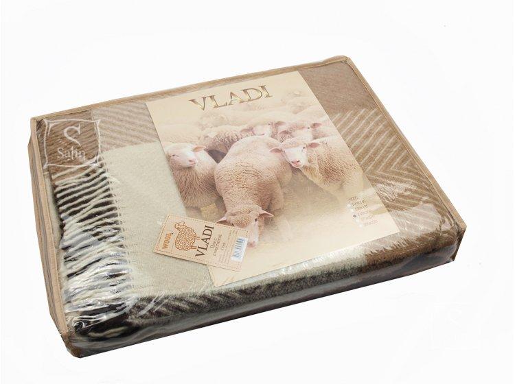 Плед Vladi Скиф бел-беж-терракотово-коричневый