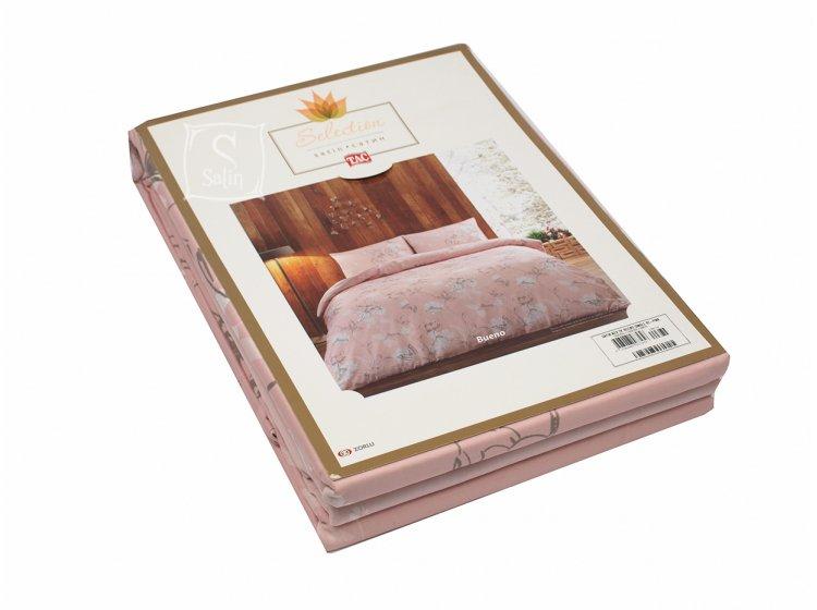 Постельное белье TAC. Sateen Bueno V2-PINK (PVC) в упаковке