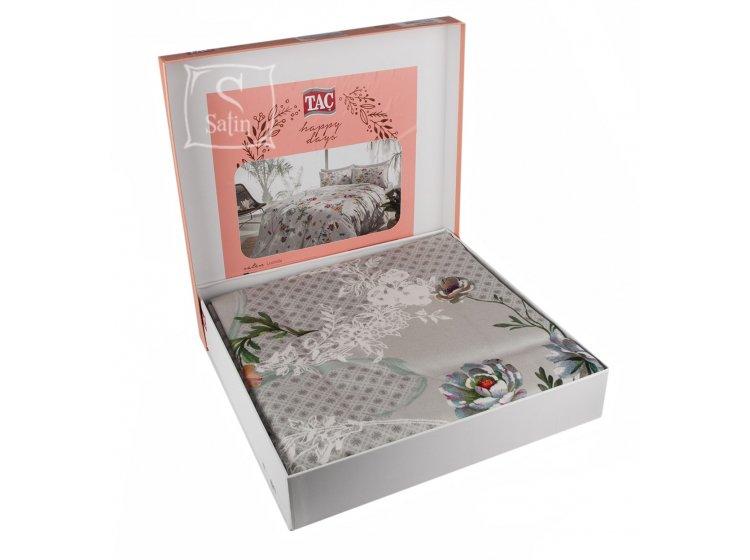 Постельное белье TAC. Lucinda V01 Gri в упаковке