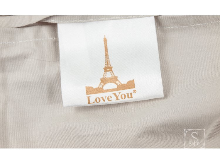 Постельное белье Love you.Сатин Digital Медиум бирка