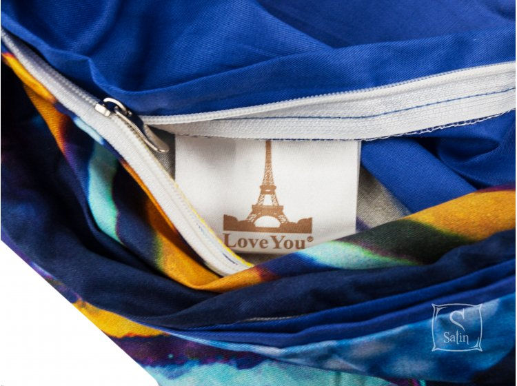 Постельное белье Love  you.Сатин Digital Лагуна пододеяльник