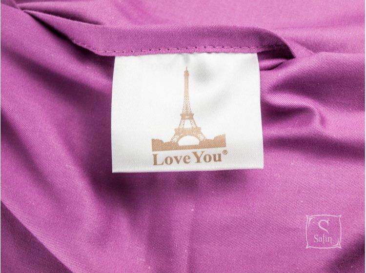 Постельное белье Love you.Сатин Digital Виолетта бирка