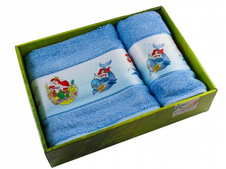 Набор махровых полотенец Cestepe. Bamboo Junior Русалочка упаковка